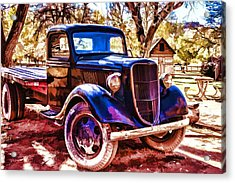 Acrylic Print featuring the painting Truck by Muhie Kanawati