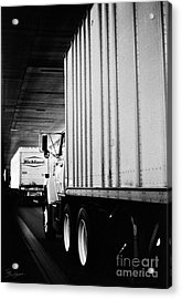 Truck Traffic In Tunnel Acrylic Print