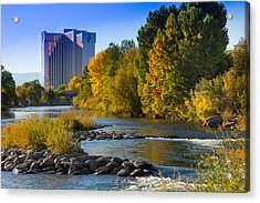 Truckee River From Sparks Acrylic Print by Janis Knight