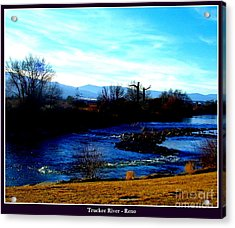 Acrylic Print featuring the photograph Truckee River In Motion by Bobbee Rickard