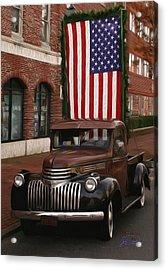 Truckin Old Glory Acrylic Print