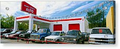 Trucks In Used Car Lot, Roswell, New Acrylic Print