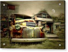 Truckyard Acrylic Print by Diana Angstadt