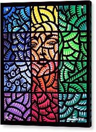 True Blue Madonna Acrylic Print