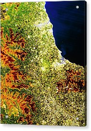 True-colour Satellite Image Of North-east England Acrylic Print