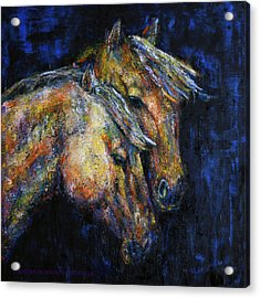 True Companions Contemporary Horse Painting Acrylic Print
