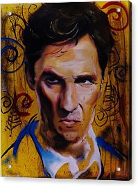 True Detective Matthew Mcconaughey Acrylic Print by Matt Burke
