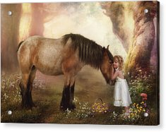 True Love Acrylic Print by Cindy Grundsten