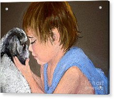 Acrylic Print featuring the painting True Love by Mary Lynne Powers
