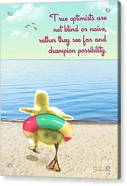 True Optimists Acrylic Print