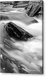 True's Brook Gorge Water Fall Acrylic Print by Edward Fielding