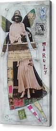 Truly Acrylic Print by Casey Rasmussen White