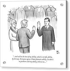 Trump Being Sworn Into Office Acrylic Print