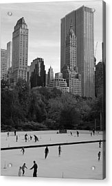 Trump Rink In New York City Acrylic Print by Dan Sproul