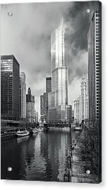 Acrylic Print featuring the photograph Trump Tower In Chicago by Steven Sparks