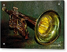 Trumpet - 20130111 Acrylic Print by Wingsdomain Art and Photography