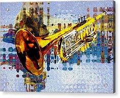 Trumpet Acrylic Print by Jack Zulli
