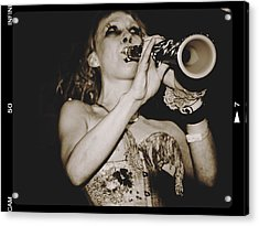 Acrylic Print featuring the photograph Trumpet Lady by Alice Gipson