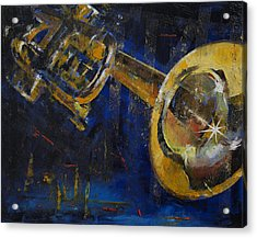 Trumpet Acrylic Print by Michael Creese