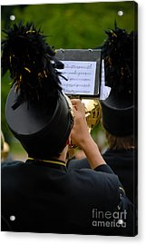 Trumpet Player In Marching Band Acrylic Print by Amy Cicconi