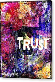 Trust Acrylic Print by Currie Silver