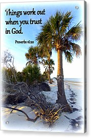 Trust In God Acrylic Print