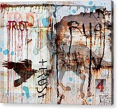 Trust Me Acrylic Print by Judy Wood