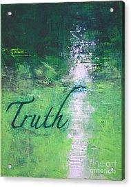Truth - Emerald Green Abstract By Chakramoon Acrylic Print by Belinda Capol