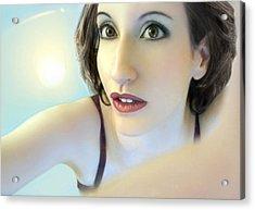 Truth Seeker - Self Portrait Acrylic Print by Jaeda DeWalt