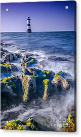 Trwyn Du Lighthouse Acrylic Print by Darren Wilkes