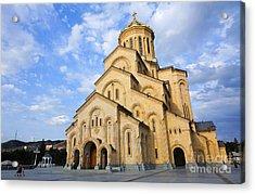 Tsminda Sameba Cathedral Tbilisi Georgia Acrylic Print by Robert Preston