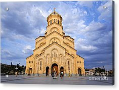 Tsminda Sameba Cathedral Tbilisi Acrylic Print by Robert Preston