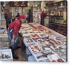 Acrylic Print featuring the photograph Tsukiji Fish Market Tokyo by Colleen Williams