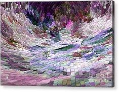 Acrylic Print featuring the digital art Tsunami by Liz  Alderdice