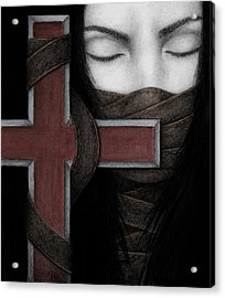 Acrylic Print featuring the painting Tu Non by Pat Erickson