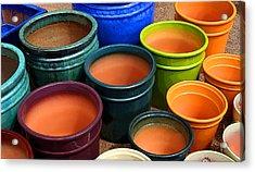 Tubac Pottery 2 Acrylic Print by Joe Kozlowski