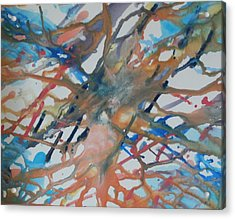 Acrylic Print featuring the painting Tube by Thomasina Durkay