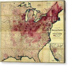 Tuberculosis In The Usa Acrylic Print by Library Of Congress, Geography And Map Division