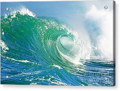 Tubing Wave Acrylic Print by Paul Topp