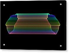 Acrylic Print featuring the digital art Tubular Rainbow by Denise Beverly