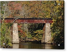 Tuckahoe Railroad Bridge Up Close Acrylic Print by Bill Swartwout Photography