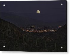 Acrylic Print featuring the photograph Tucson At Dusk by Lynn Geoffroy
