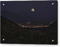 Tucson At Dusk Acrylic Print