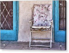 Tucson Front Porch Painterly Effect Acrylic Print by Carol Leigh