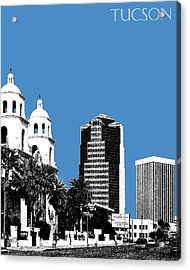 Tucson Skyline 2 - Slate Acrylic Print by DB Artist
