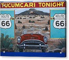 Tucumcari Tonight Mural On Route 66 Acrylic Print by Carol Leigh