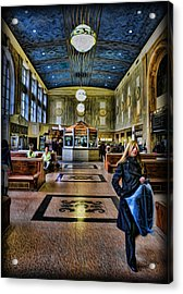 Tuesday Afternoon At The Train Station Acrylic Print by Lee Dos Santos