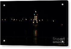 Tug Boat Light Painting Acrylic Print