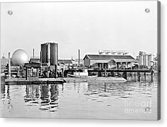 Acrylic Print featuring the photograph Tug Boat On The Waterfront by Vibert Jeffers