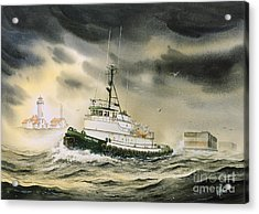 Tugboat Agnes Foss Acrylic Print by James Williamson